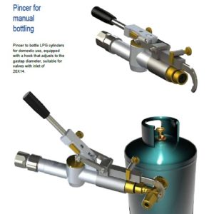 LPG pincer for bottling